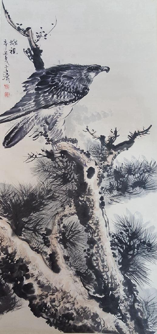 Chinese Scroll Painting,Wang Xuetao(1903-1982)