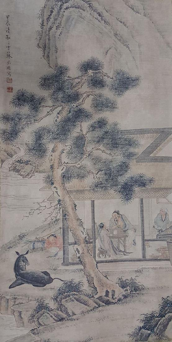 Chinese Scroll Painting,Su Liupeng(1791-1862)
