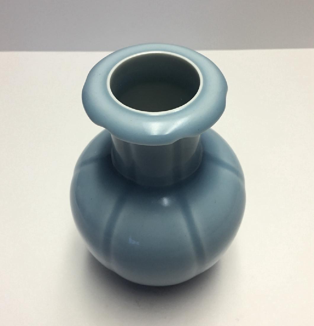 Chinese Porcelain Blue Glaze Vase - 2