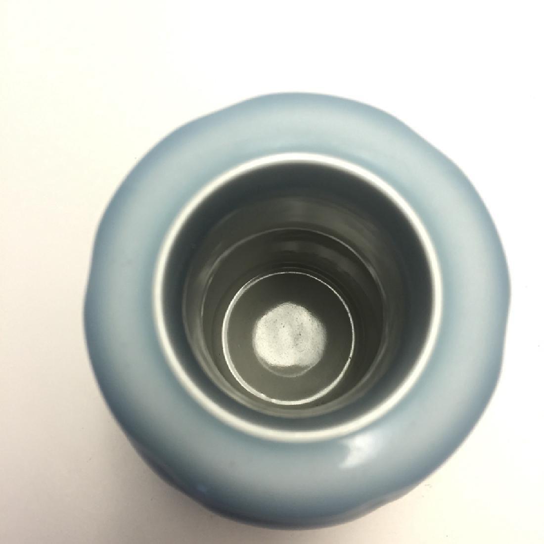 Chinese Porcelain Blue Glaze Vase - 3