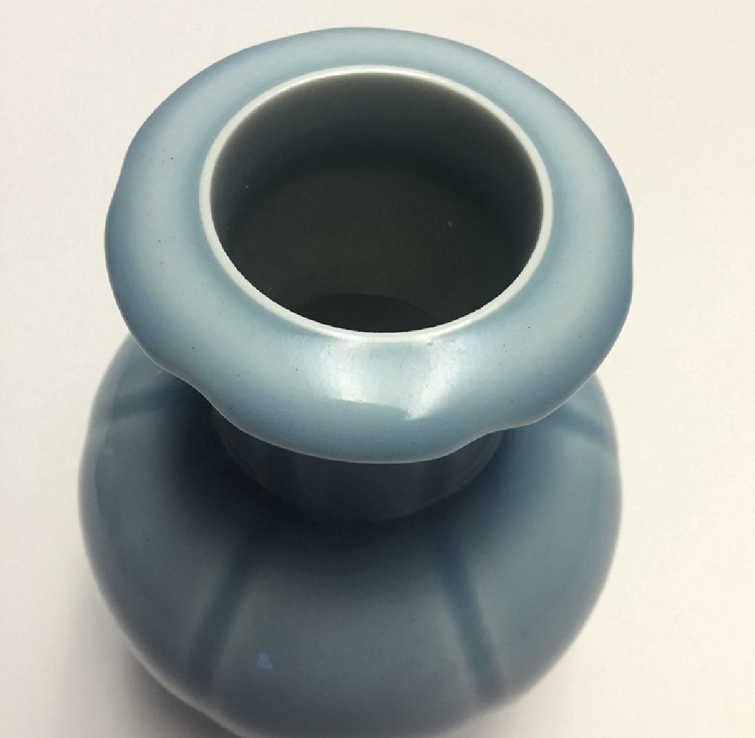 Chinese Porcelain Blue Glaze Vase - 4