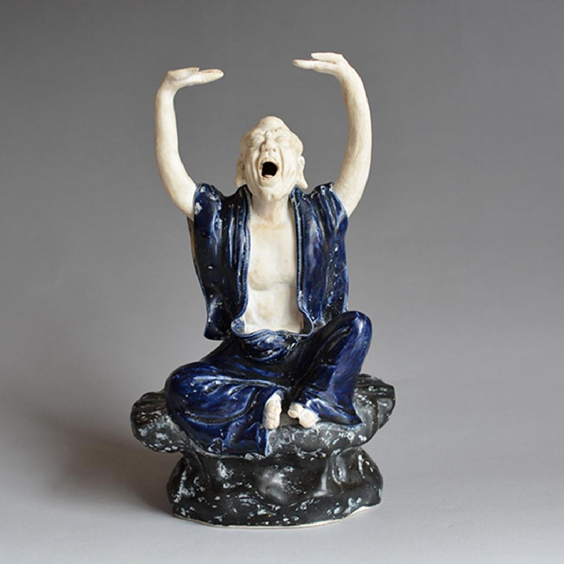 Chinese Porcelain Rohan Statue