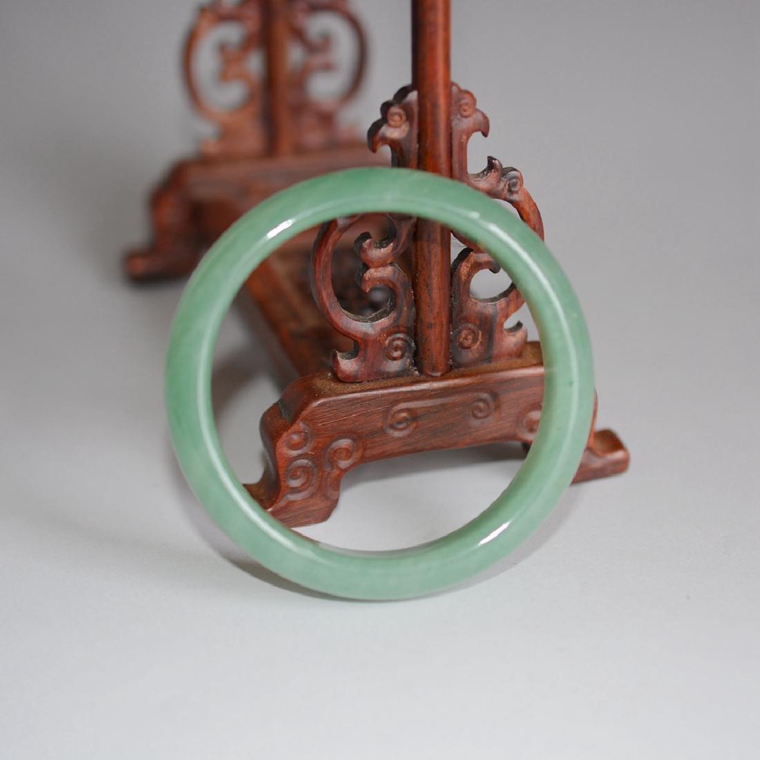 Chinese Carved Jadeite Bracelet