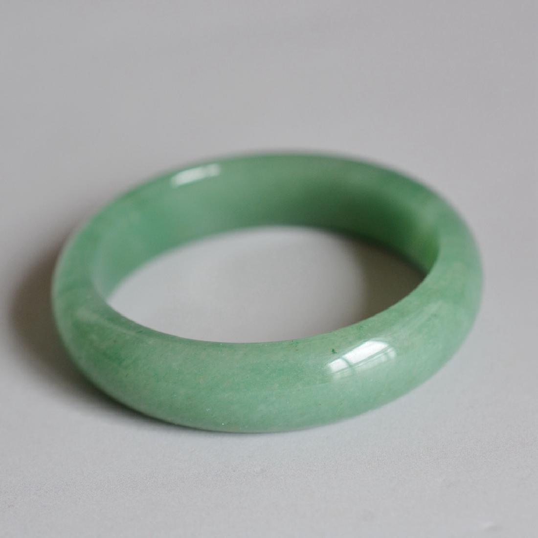 Chinese Carved Jadeite Bracelet - 2