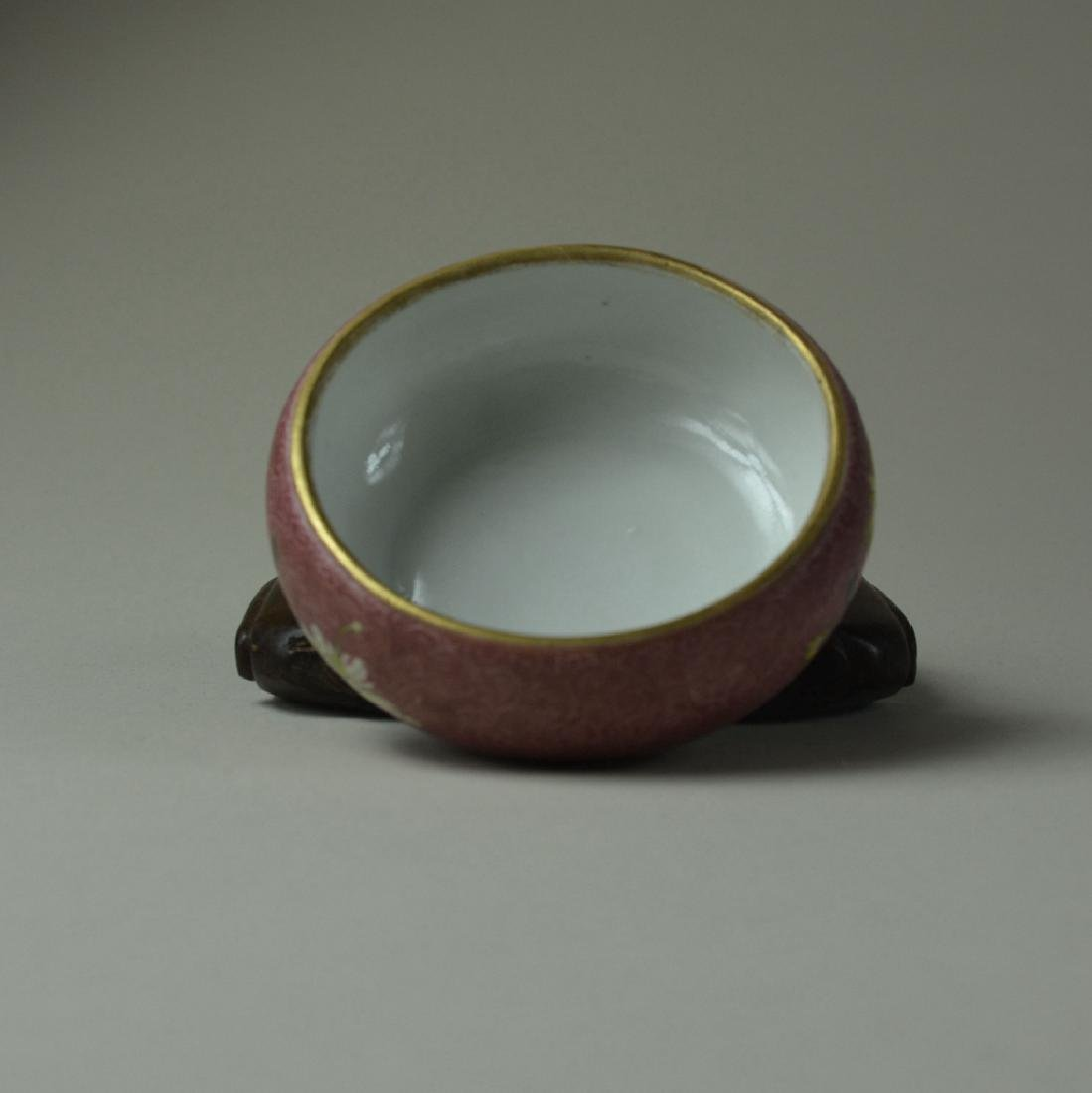 Chinese Porcelain Famille Rose Brush Wash