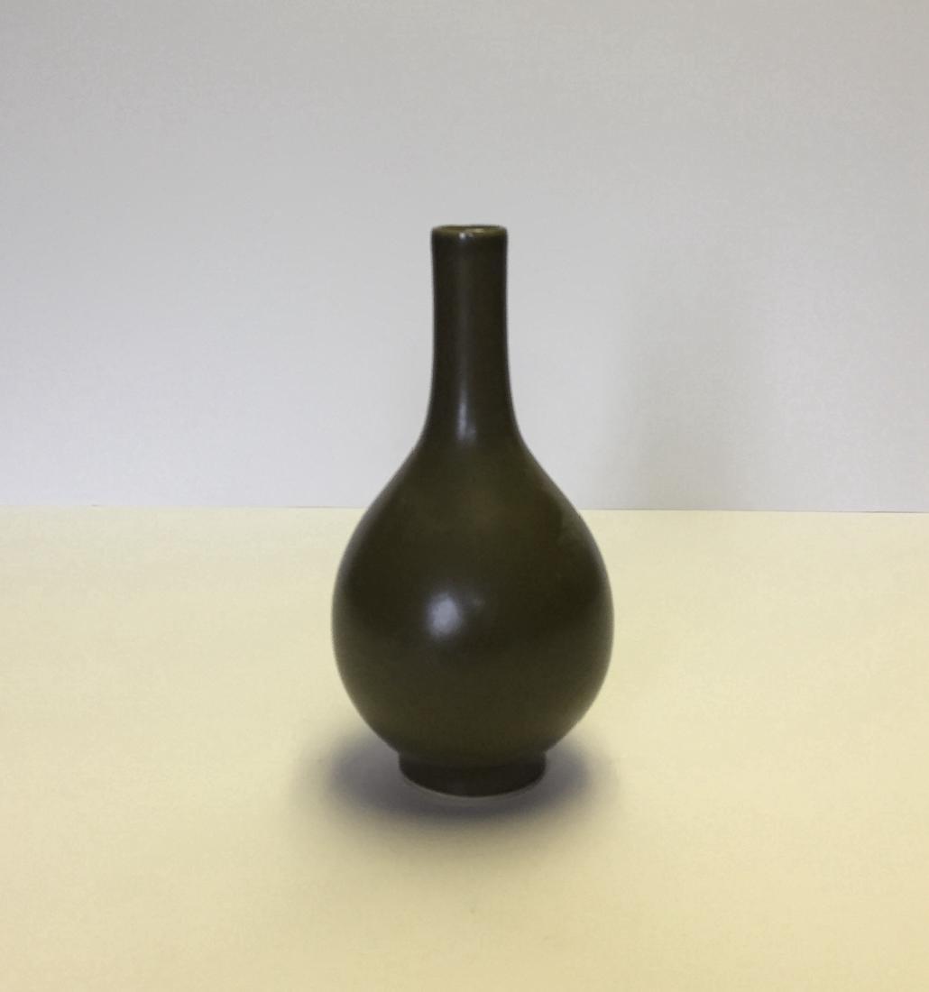 Chinese Porcelain Tea Green Vase