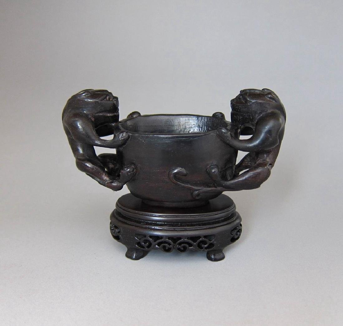 Chinese Carved Wood Cup