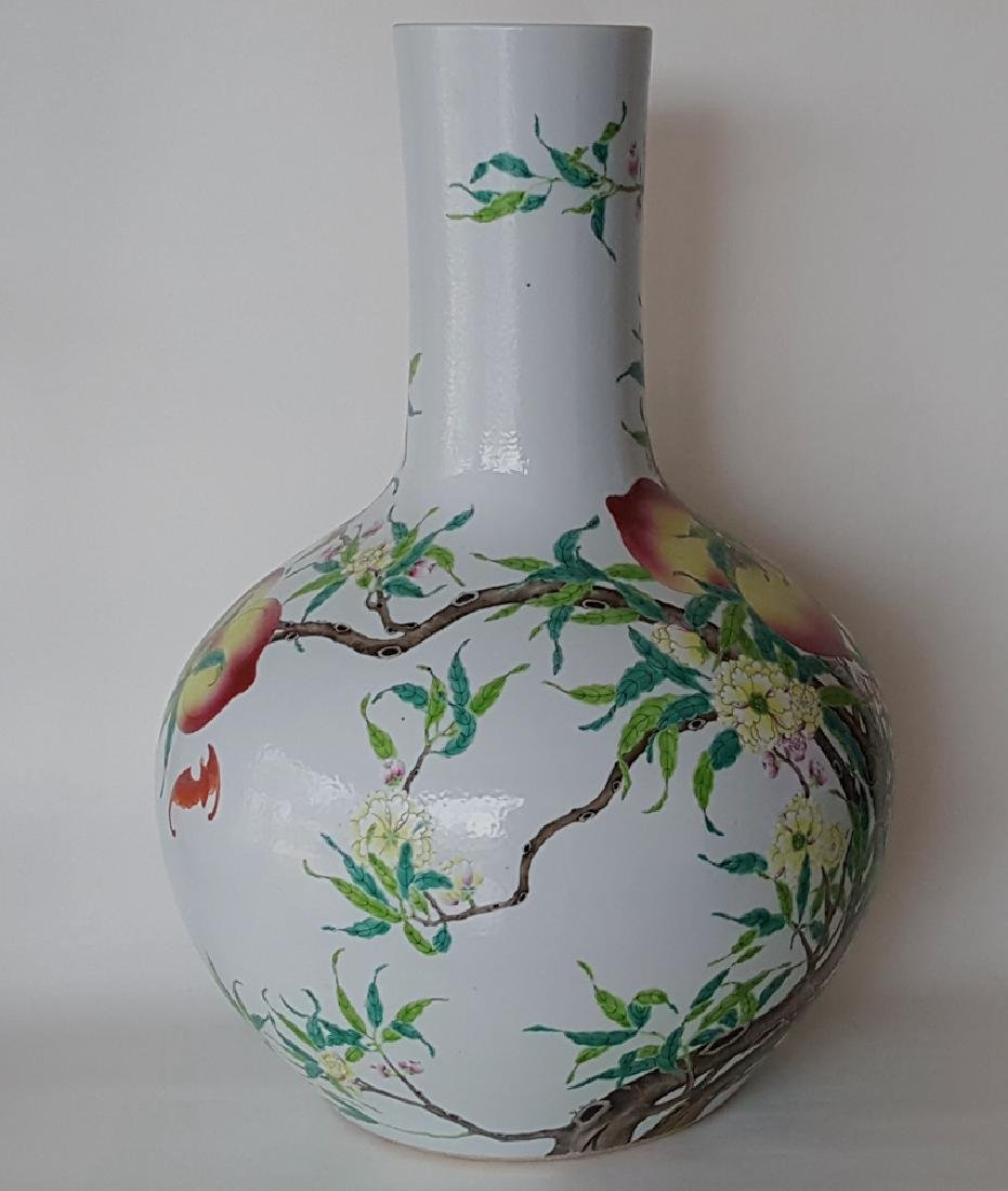 Large Chinese Famille Rose Porcelain Vase - 2