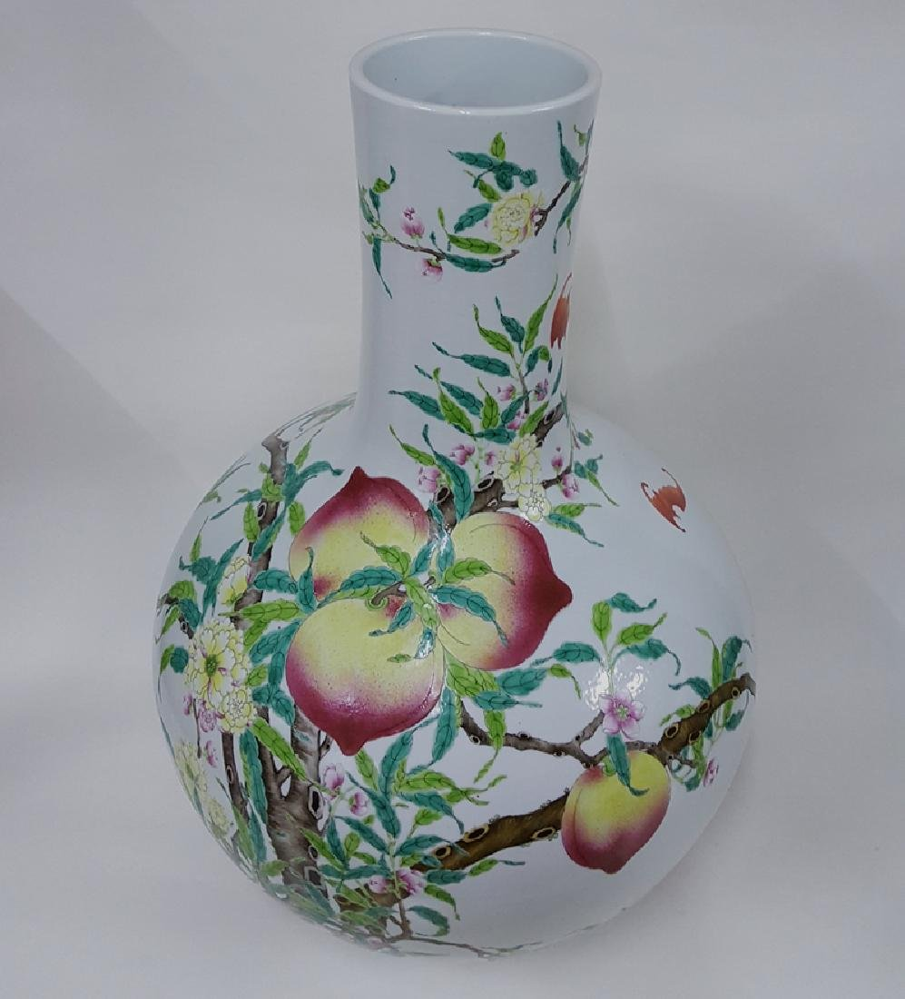Large Chinese Famille Rose Porcelain Vase - 3