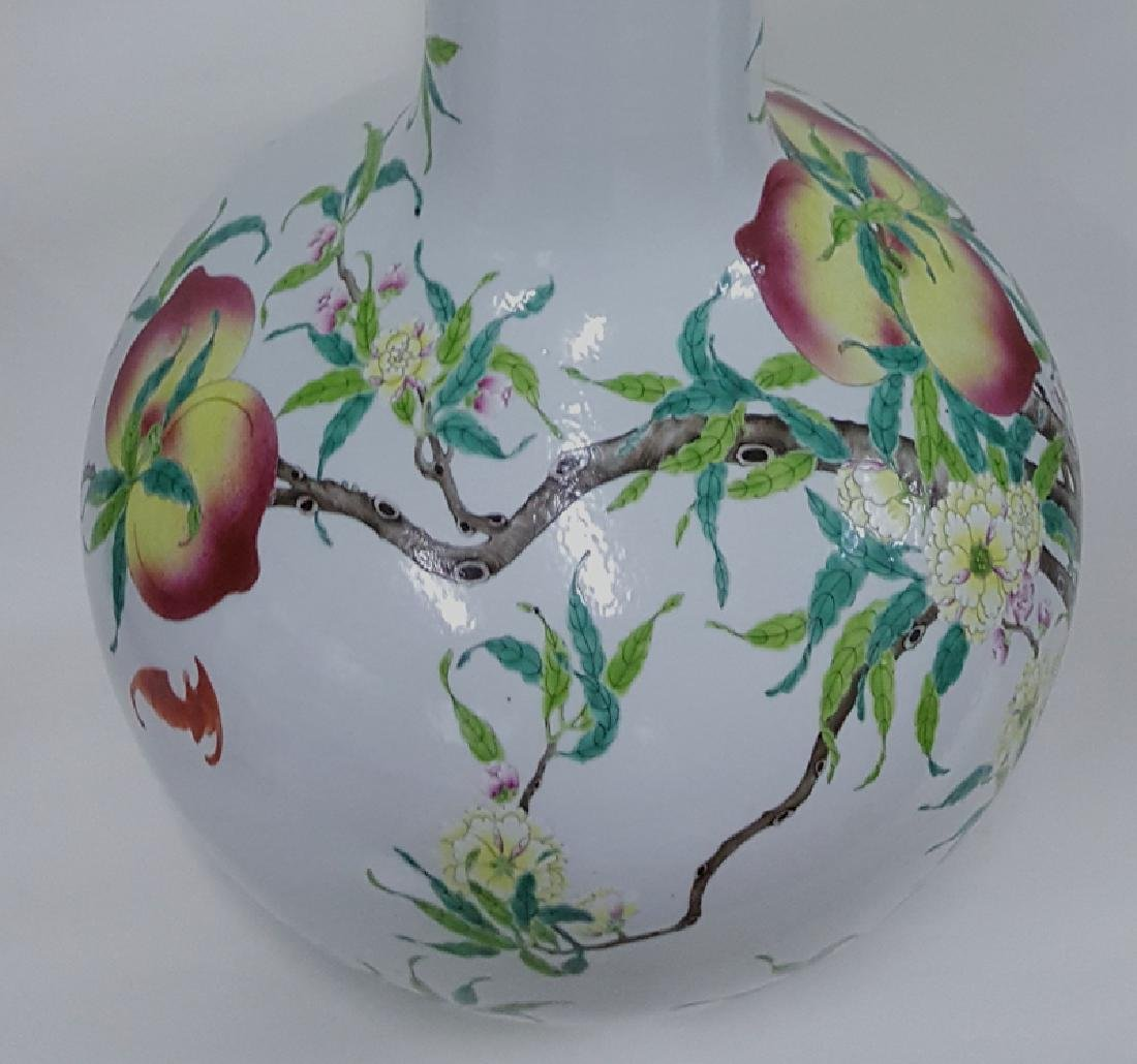 Large Chinese Famille Rose Porcelain Vase - 6
