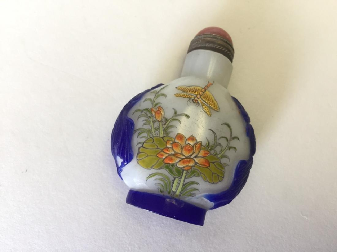 Chinese Liuli Famille Rose Snuff Bottle - 3