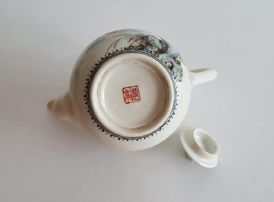 Chinese Famille Rose Porcelain Teapot - 8