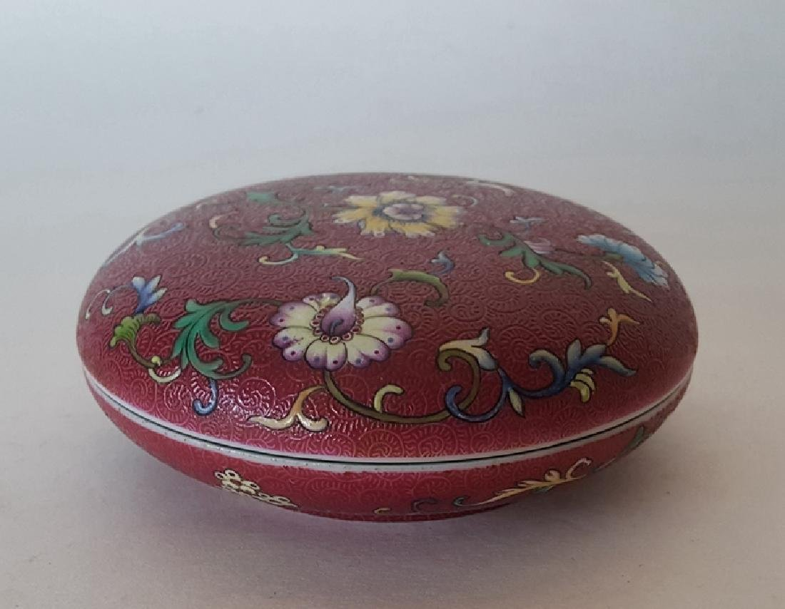 Chinese Porcelain Famille Rose Inkbox