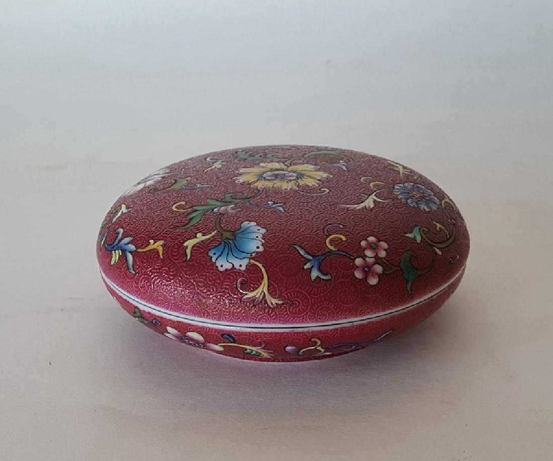 Chinese Porcelain Famille Rose Inkbox - 2