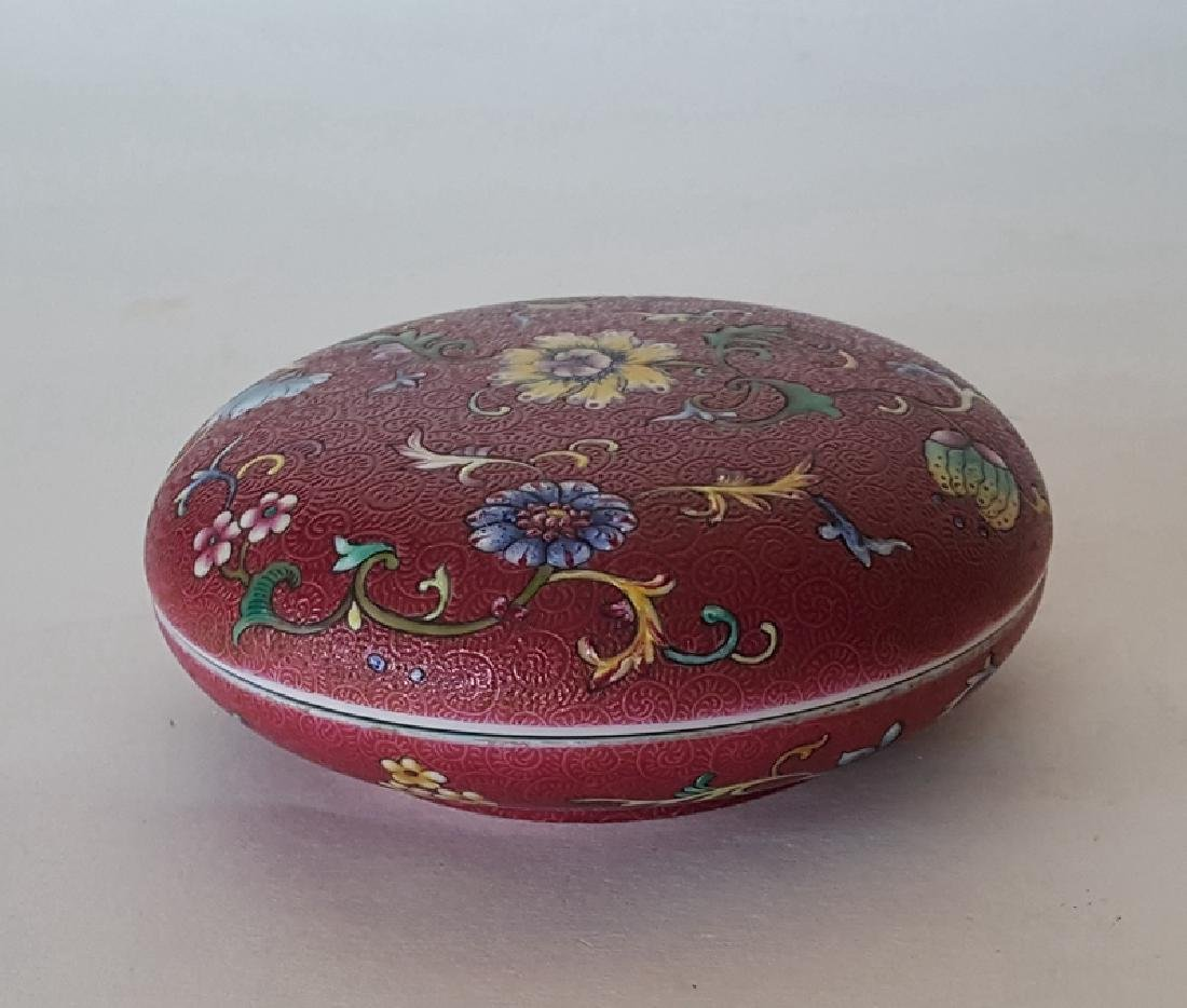 Chinese Porcelain Famille Rose Inkbox - 3
