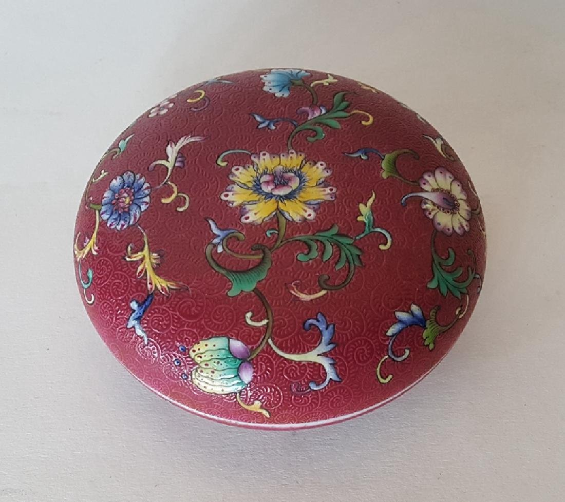 Chinese Porcelain Famille Rose Inkbox - 4