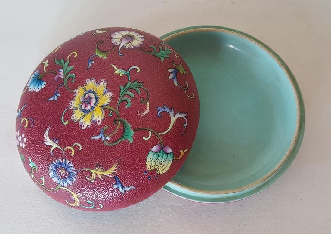 Chinese Porcelain Famille Rose Inkbox - 5
