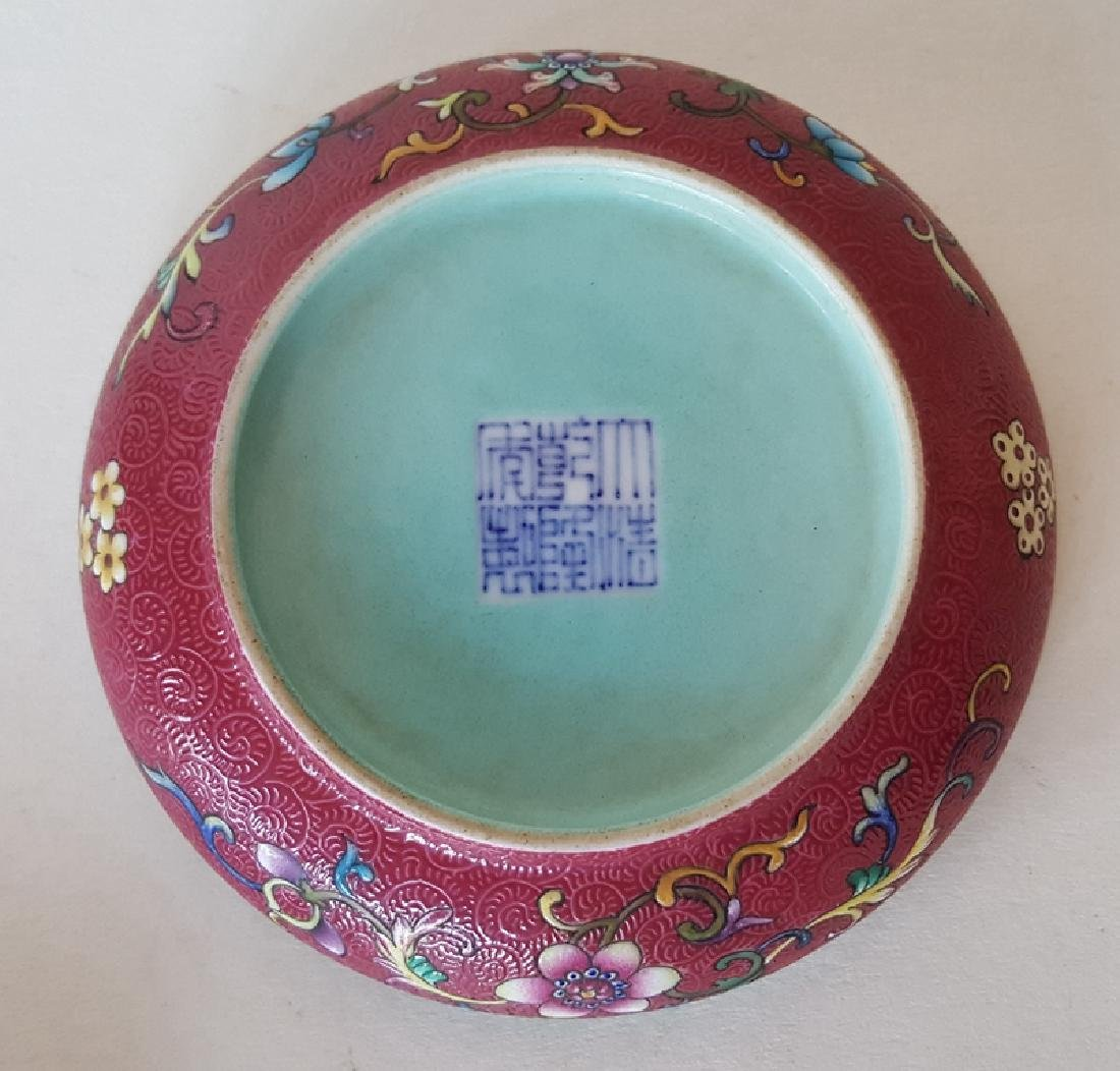 Chinese Porcelain Famille Rose Inkbox - 7