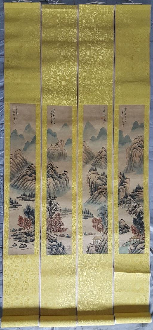 A set of Chinese Painting Scrolls ,Zhang - 2