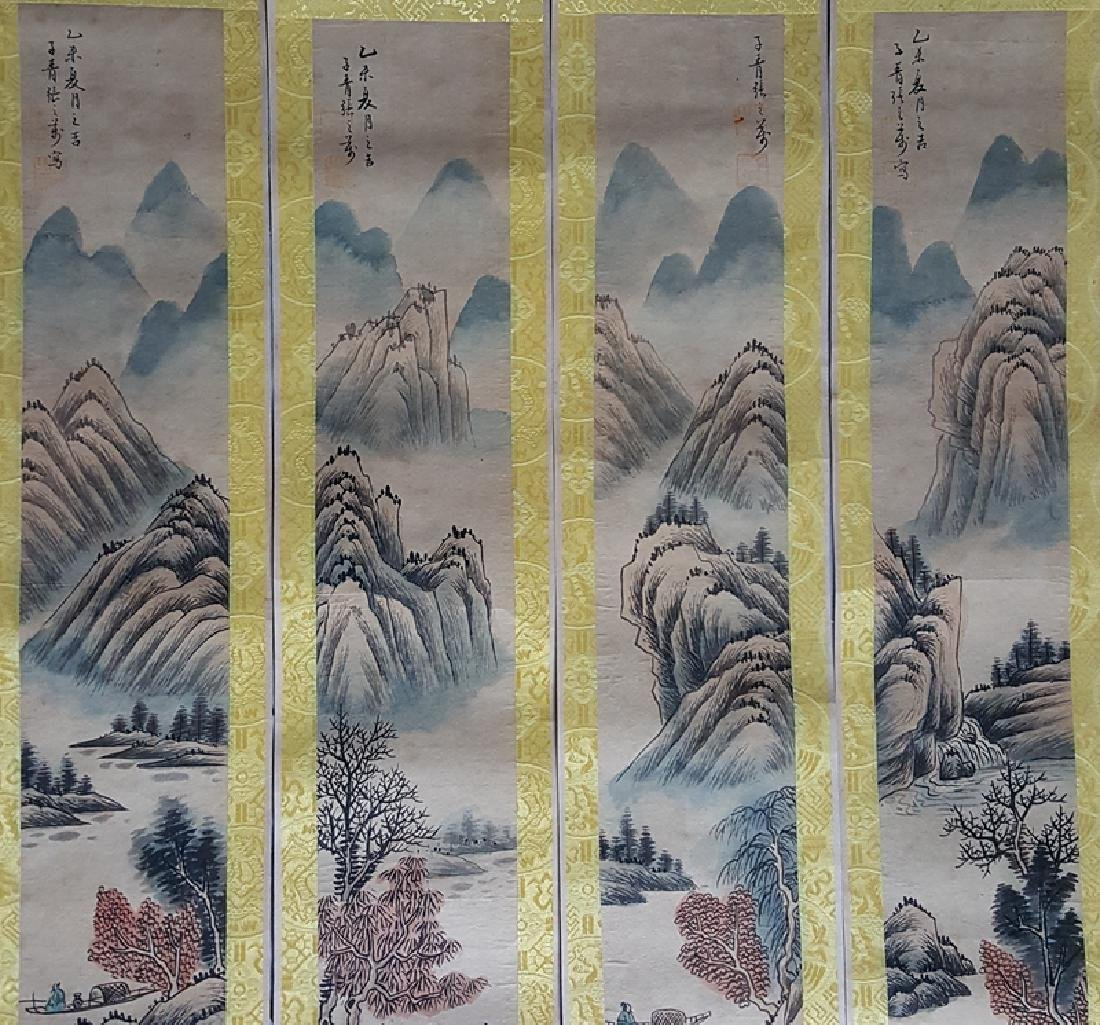A set of Chinese Painting Scrolls ,Zhang - 4