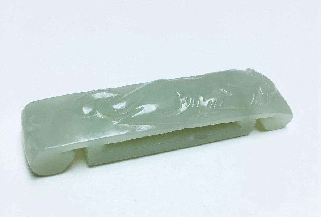 Chinese Carved Jade Belt Nuckle