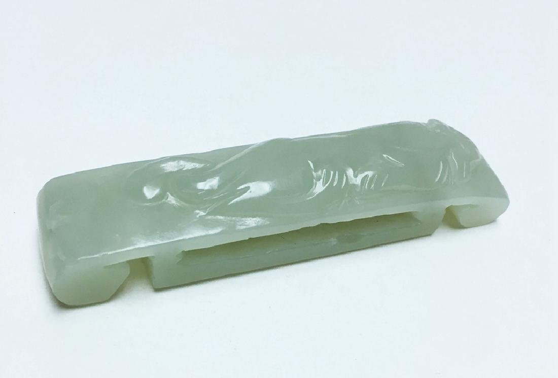 Chinese Carved Jade Belt Nuckle