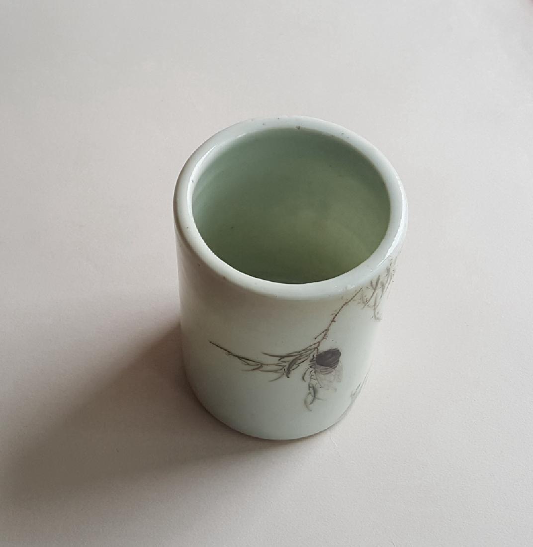 Chinese Porcelain Famille Rose Brush Pot - 6