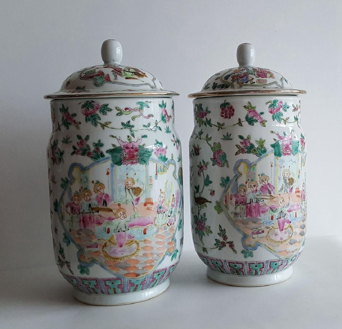 Pair Large Chinese Porcelain Vase - 2