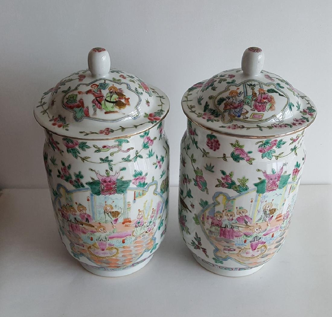 Pair Large Chinese Porcelain Vase - 3