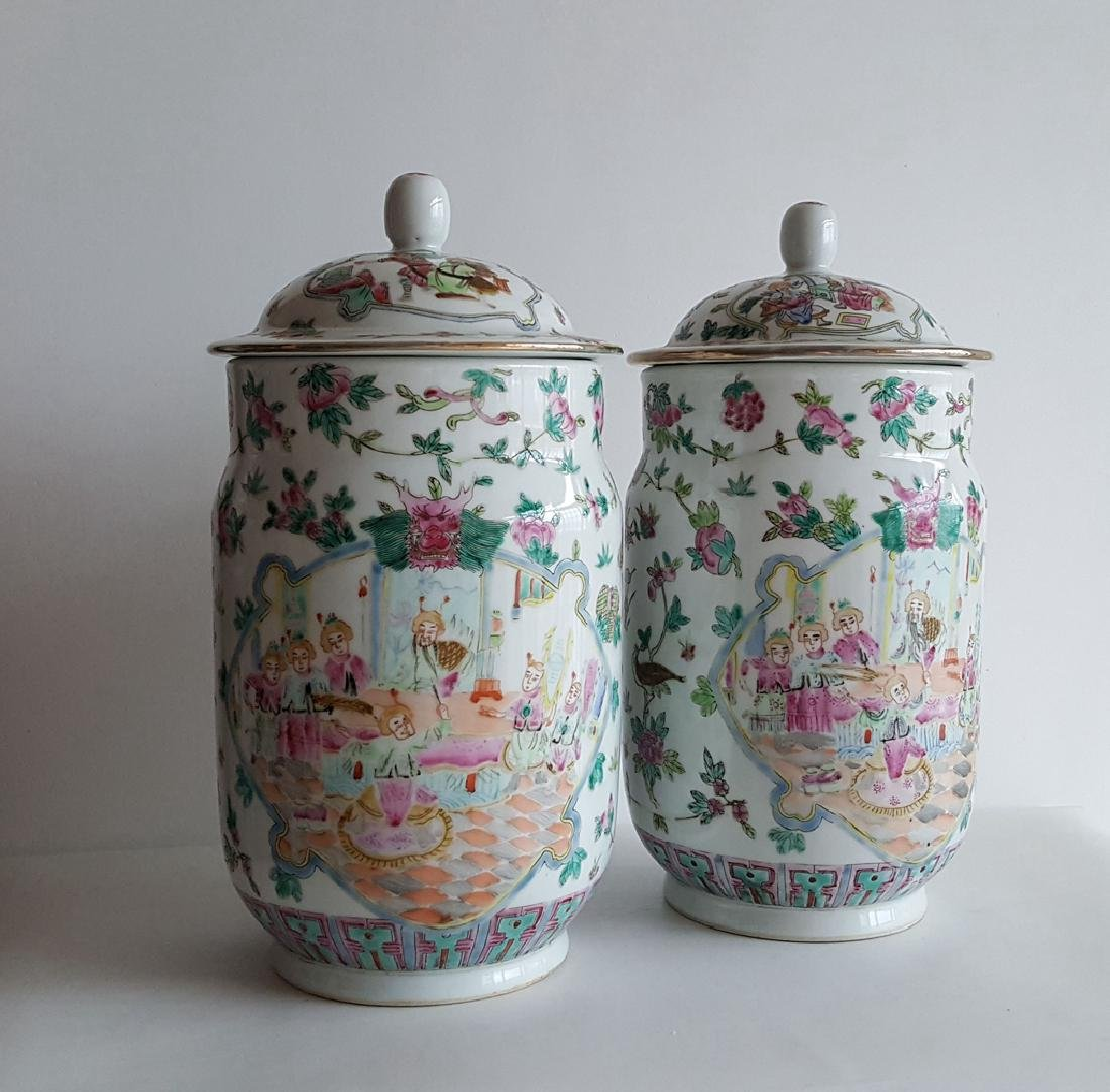 Pair Large Chinese Porcelain Vase - 4