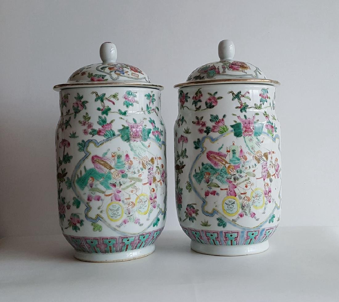Pair Large Chinese Porcelain Vase - 6