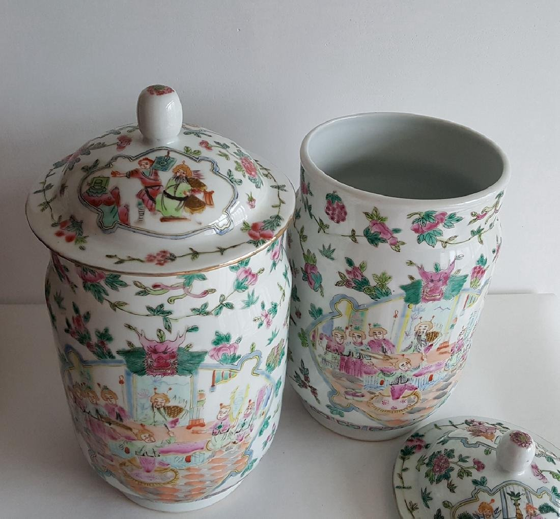 Pair Large Chinese Porcelain Vase - 7