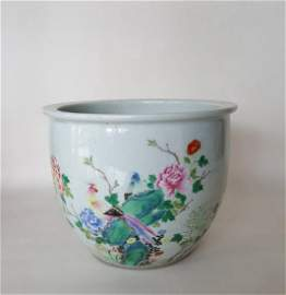 Chinese Porcelain Scroll Painting Cylinder