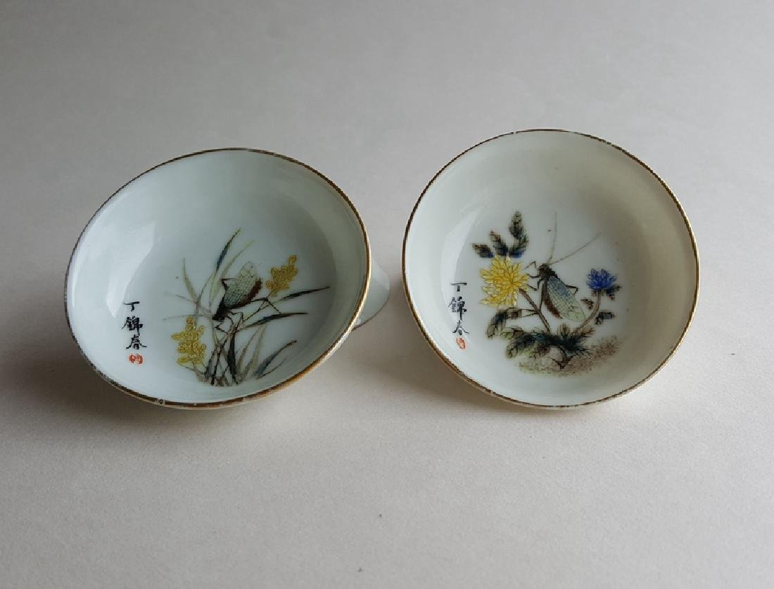 4 Chinese Famille Rose Porcelain Dishes - 4