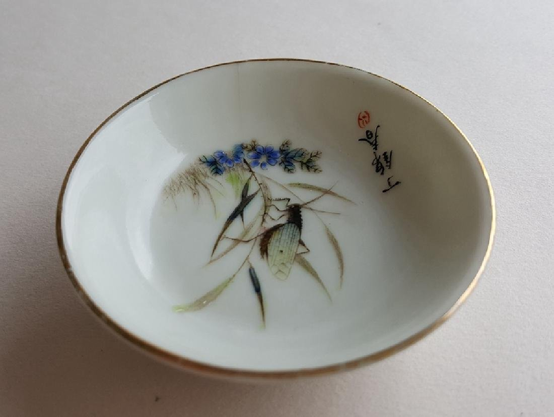 4 Chinese Famille Rose Porcelain Dishes - 7
