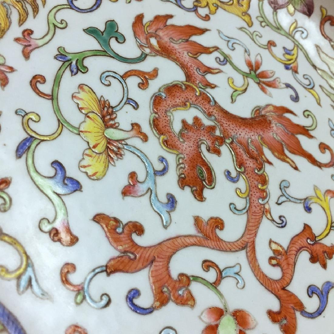 Chinese Famille Rose Porcelain Plate Guangxu Mark - 5