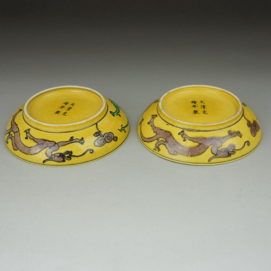 Pair Chinese Porcelain Plates Guangxu Mark - 3