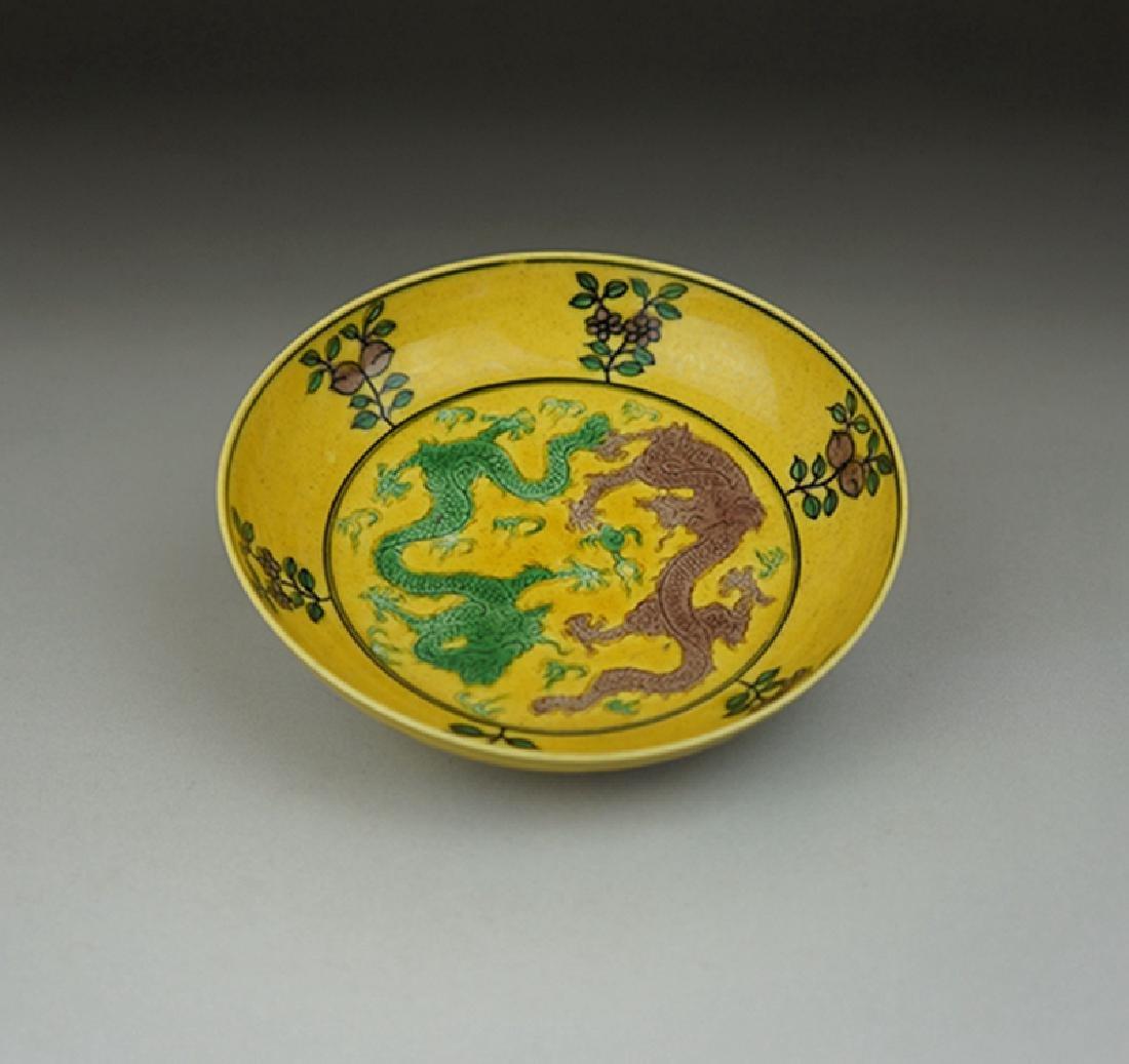 Pair Chinese Porcelain Plates Guangxu Mark - 7