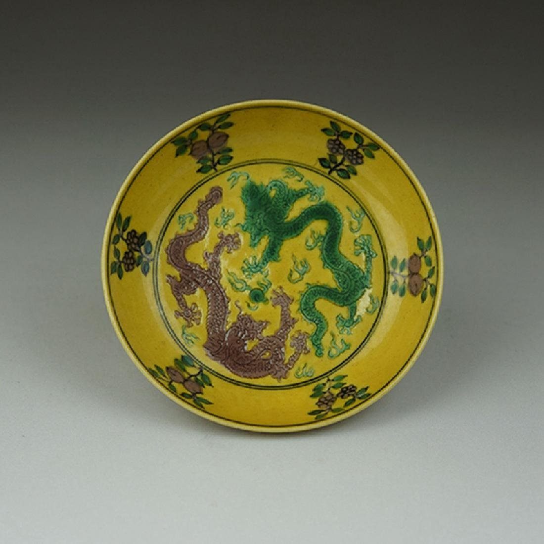 Pair Chinese Porcelain Plates Guangxu Mark - 8
