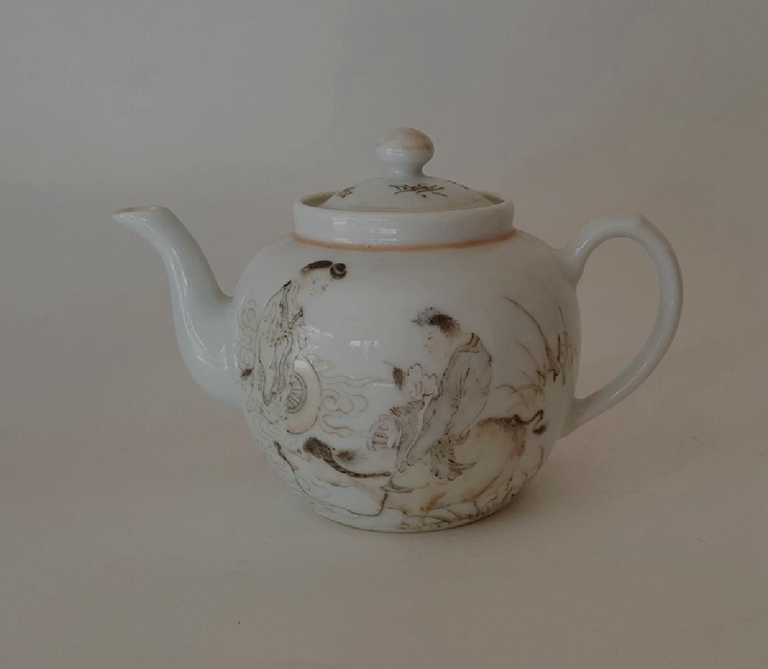 Chinese Porcelain Qiangjiang Color Teapot