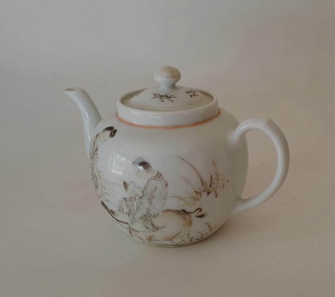 Chinese Porcelain Qiangjiang Color Teapot - 2