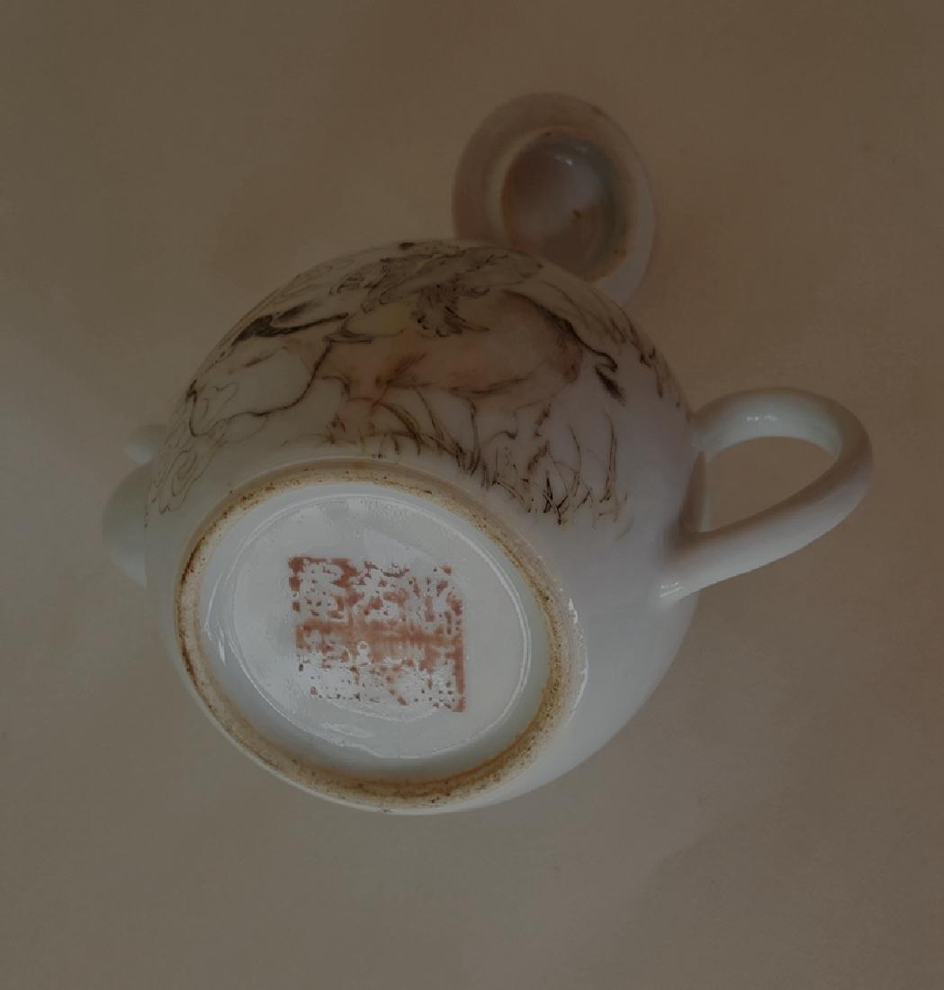 Chinese Porcelain Qiangjiang Color Teapot - 7
