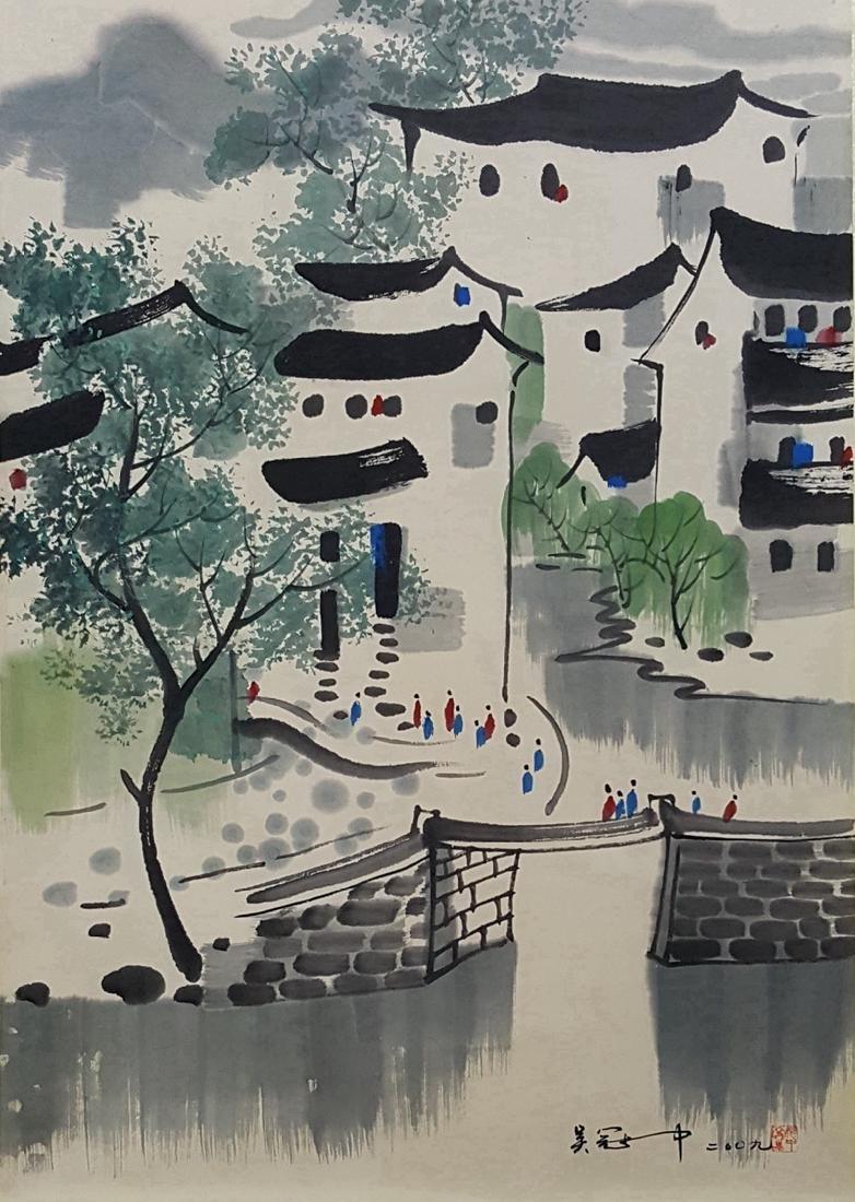 Chinese Scroll Painting,Wu Guanzhong (1919-2010)