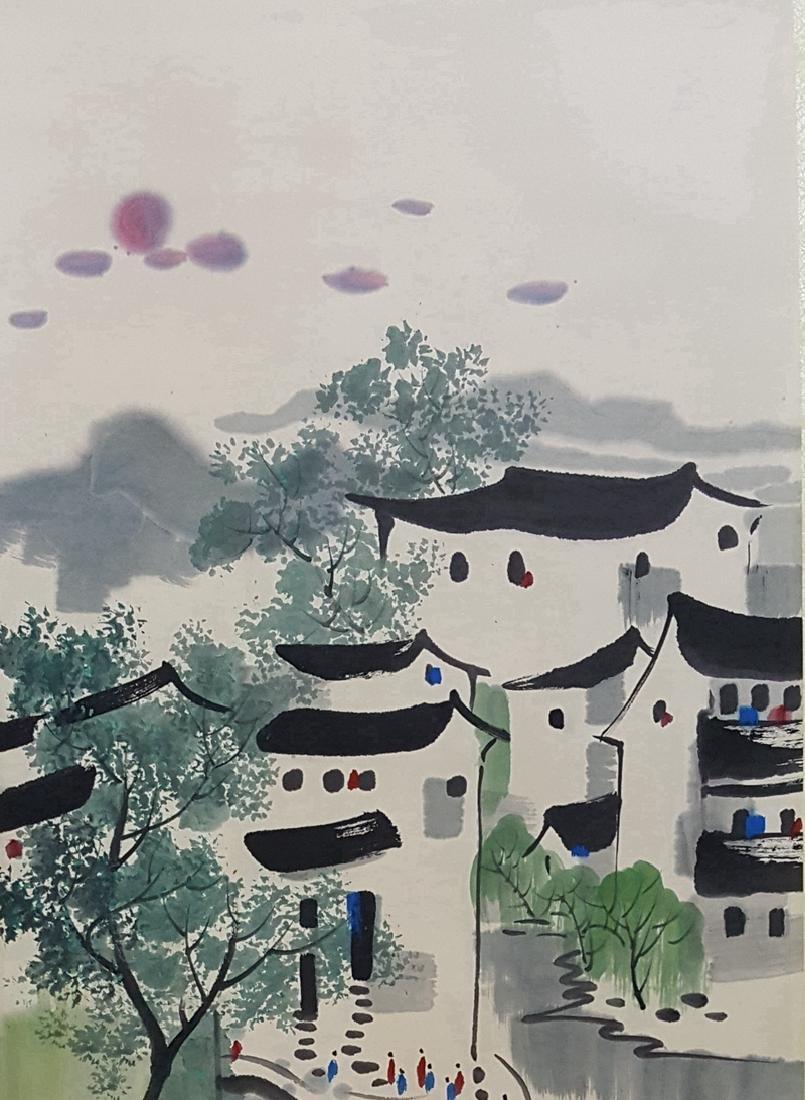 Chinese Scroll Painting,Wu Guanzhong (1919-2010) - 2