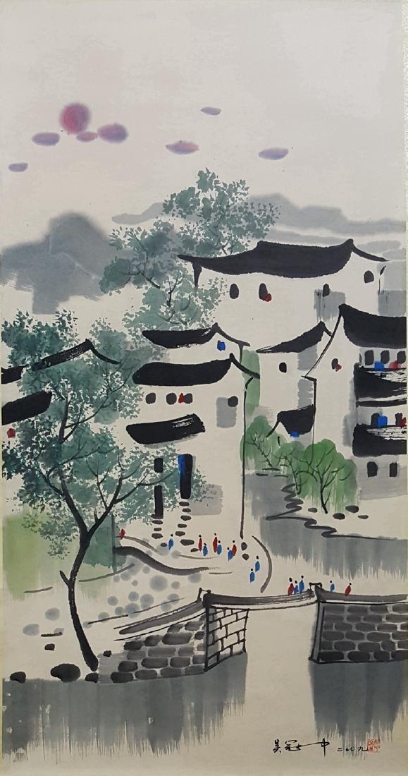 Chinese Scroll Painting,Wu Guanzhong (1919-2010) - 3