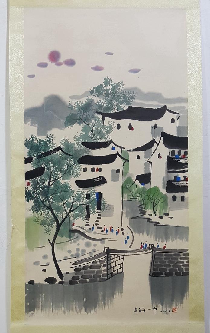 Chinese Scroll Painting,Wu Guanzhong (1919-2010) - 4