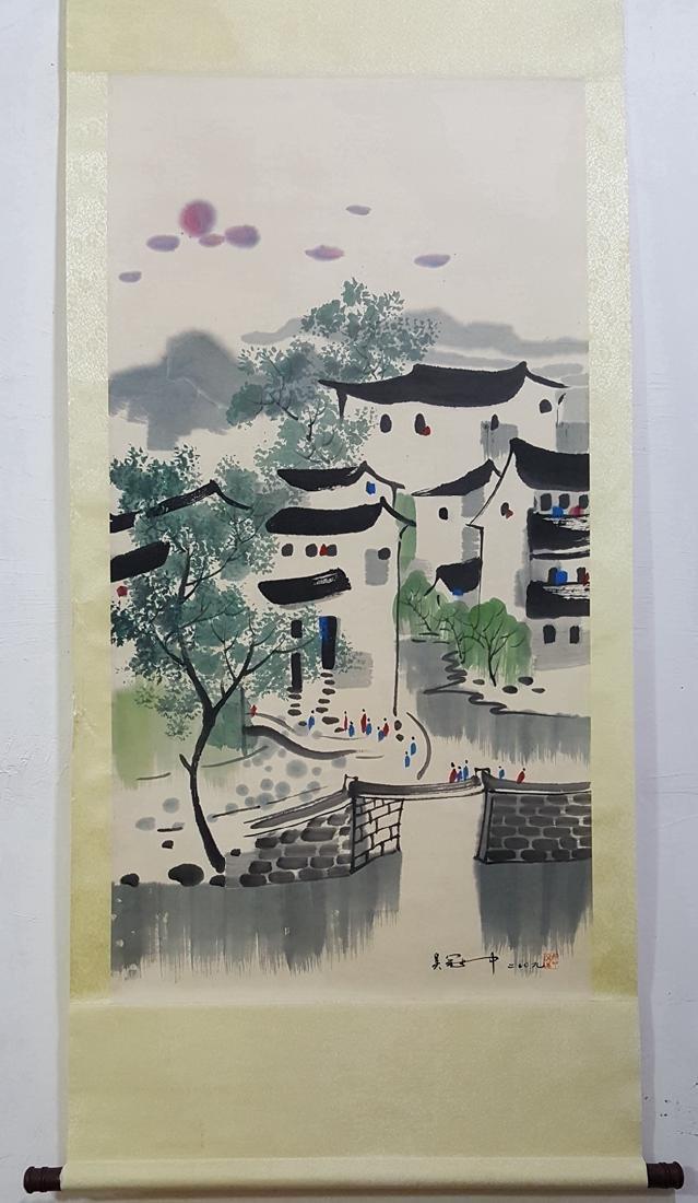 Chinese Scroll Painting,Wu Guanzhong (1919-2010) - 5