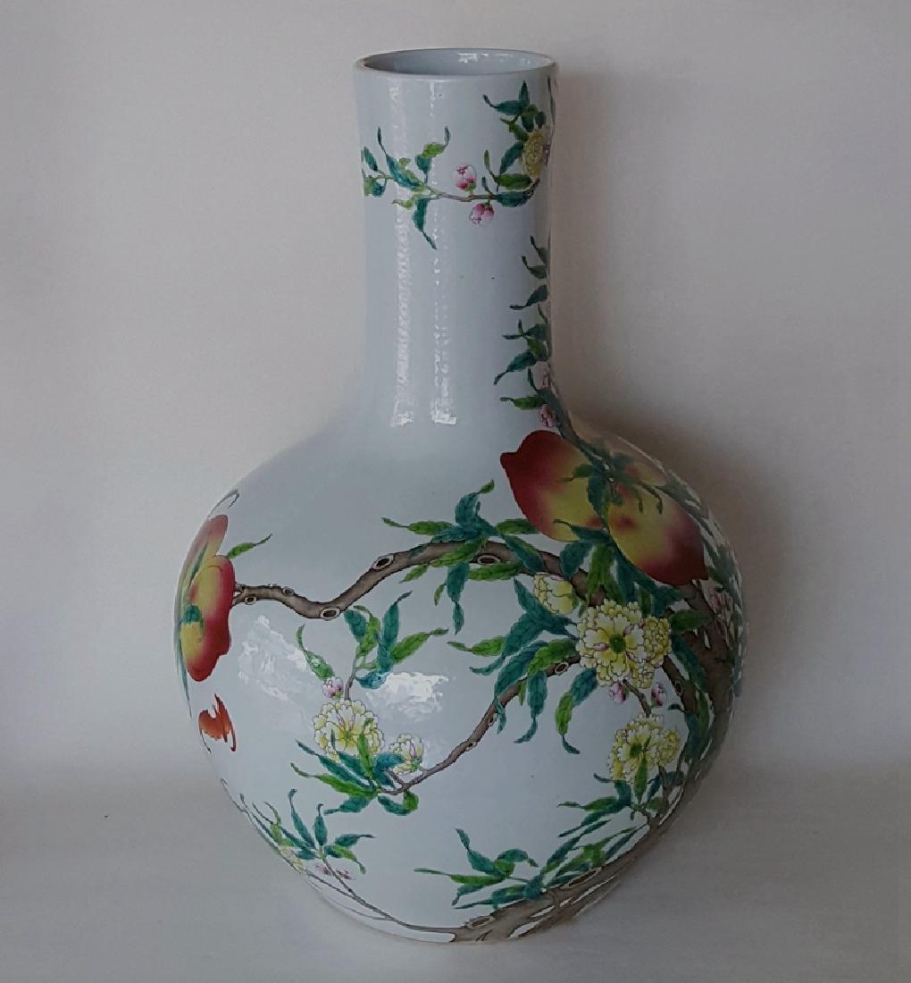 Large Chinese Famille Rose Porcelain Vase - 3