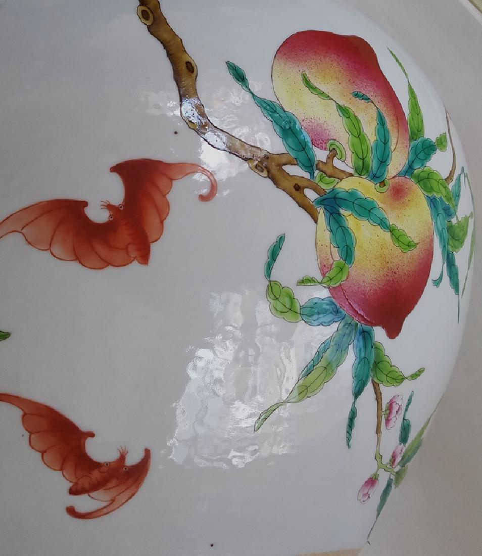 Large Chinese Famille Rose Porcelain Vase - 9