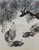 Chinese Scroll Painting,Li Keran(1907-1989)
